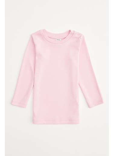 DeFacto Kız Bebek Basic Uzun Kol Tişört Pembe